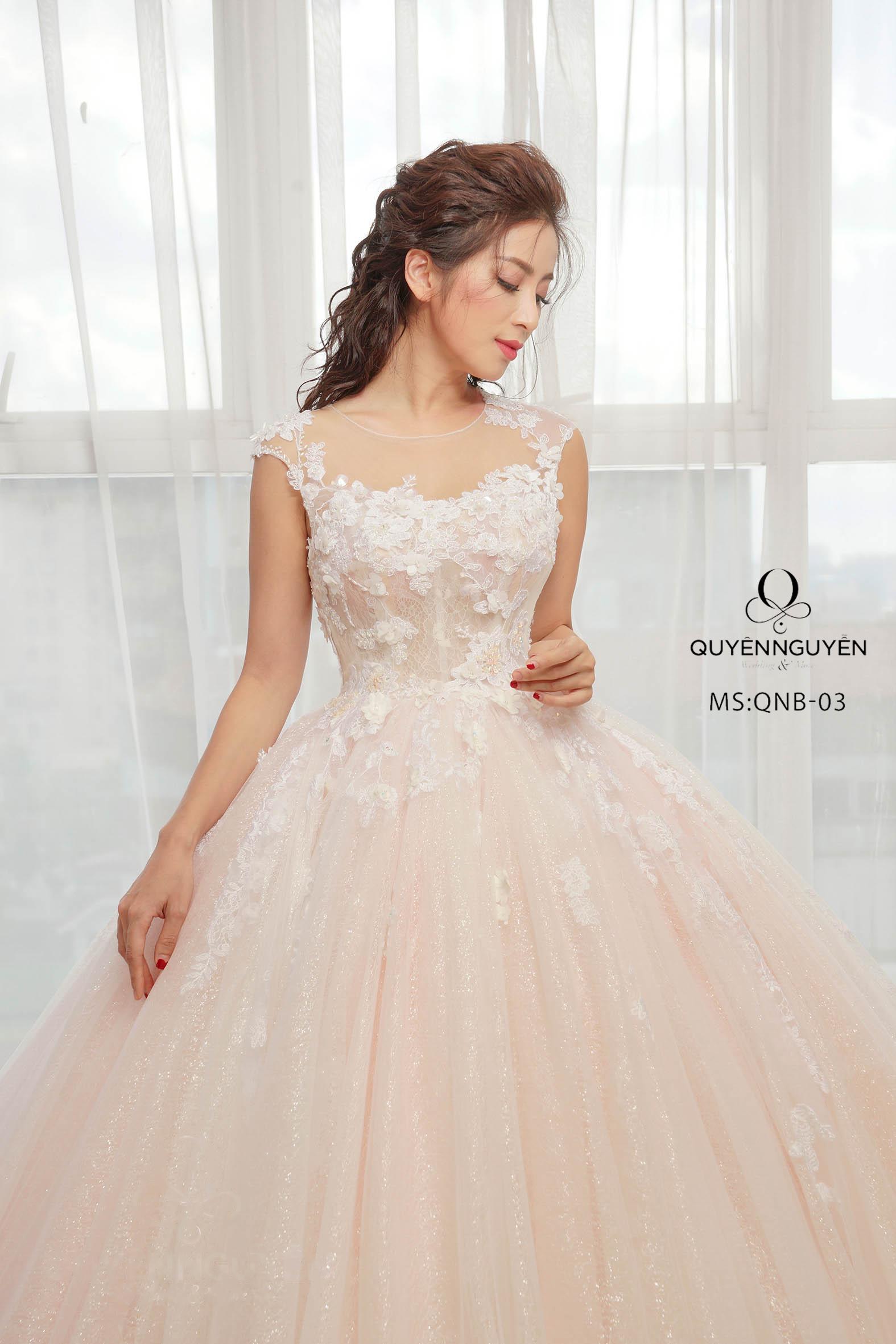 Váy cưới dáng bồng công chúa QNB 03