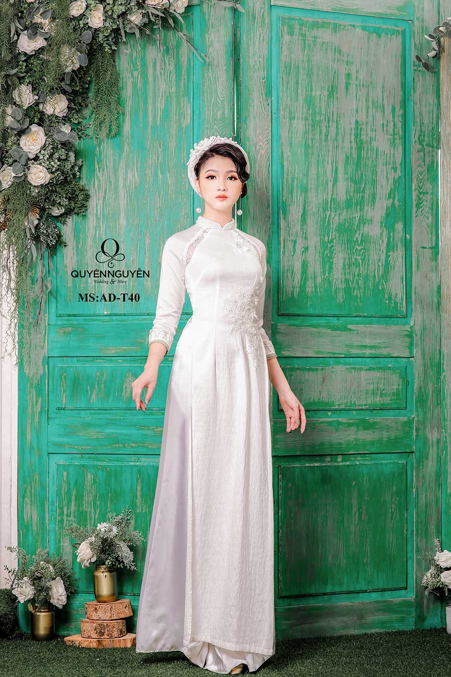 Áo dài trắng ADT40