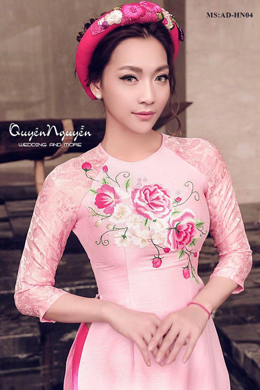 Bộ sưu tập áo dài cô dâu ADHN04