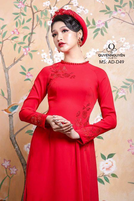 Áo dài đỏ AD D49