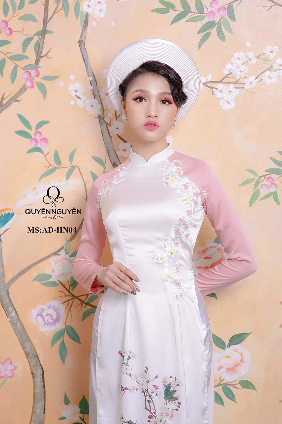Áo dài hồng nhạt AD HN 04