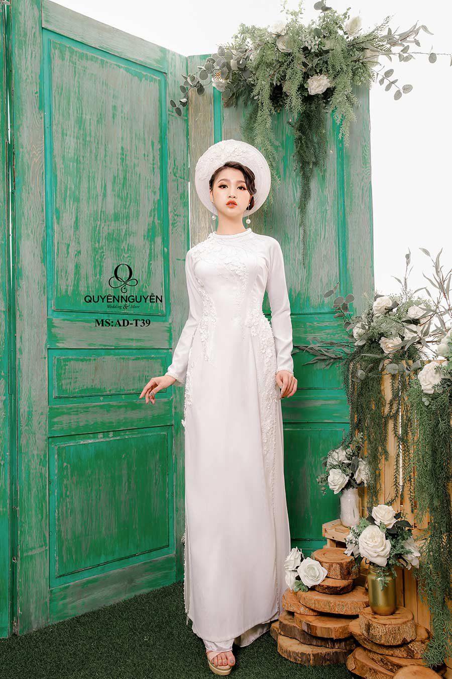 Áo dài trắng ADT39