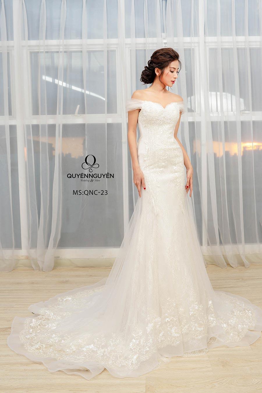 Váy cưới dáng cá QNC 23