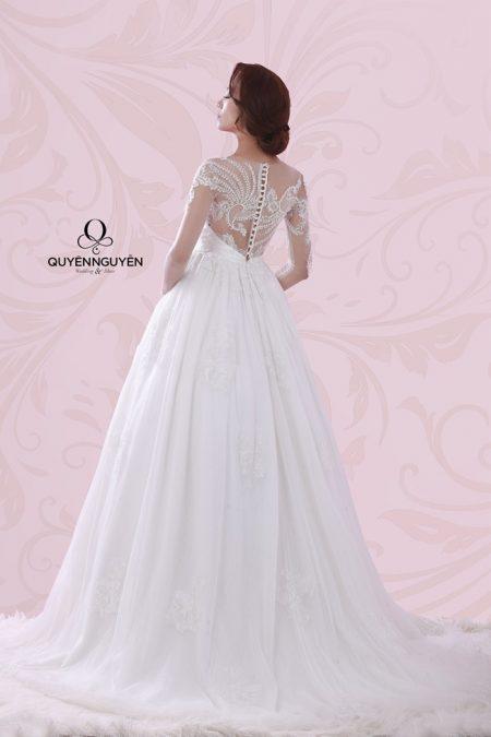 Váy cưới dáng A QNA 09