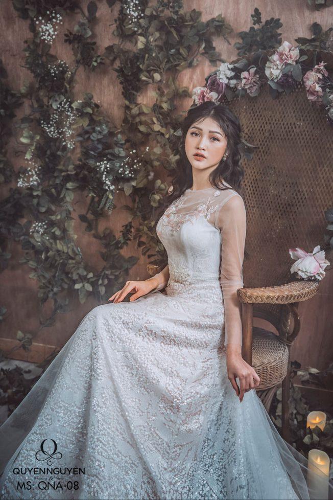 Váy cưới dáng A QNA 08