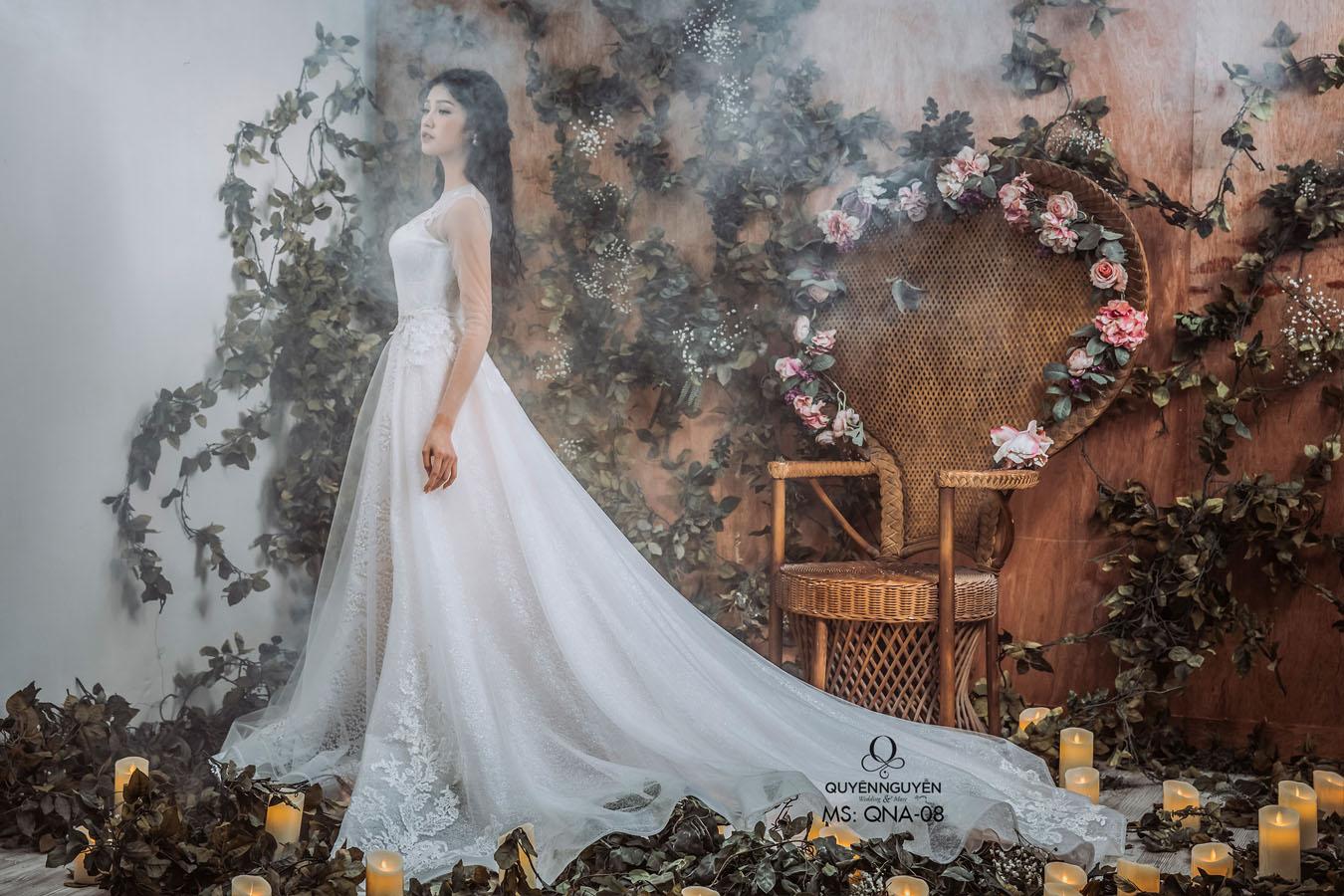 Váy cưới dáng cá QNA 08