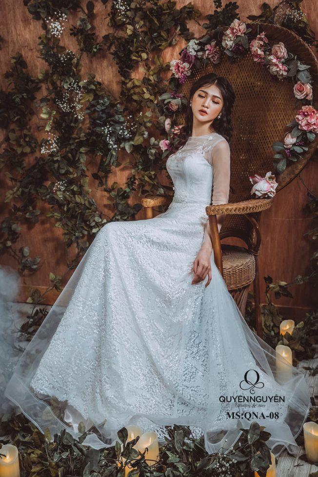 Váy cưới dáng bồng QNA 08