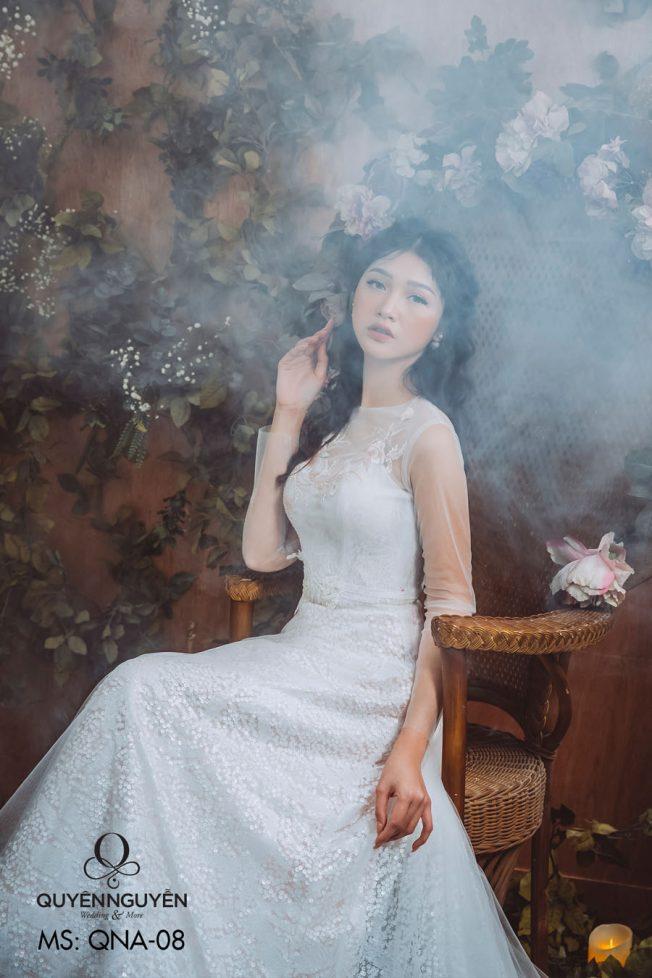 Váy cưới dáng bồng QNB 08