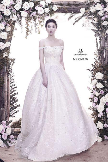 Váy cưới dáng bồng QNB 50