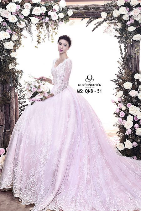 Váy cưới dáng A QNB 51