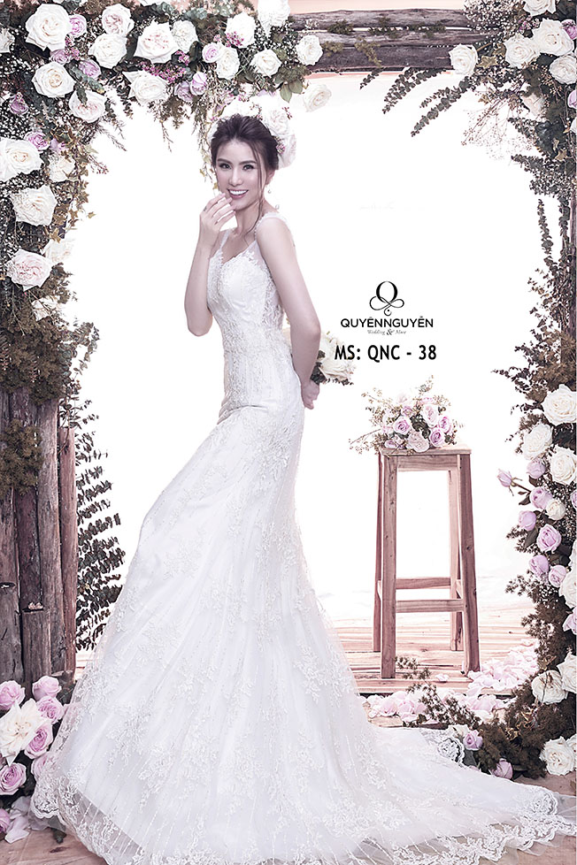 Váy cưới dáng cá QNC 38