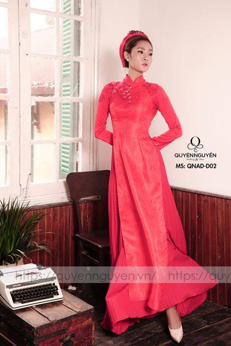 Áo dài đỏ AD D02