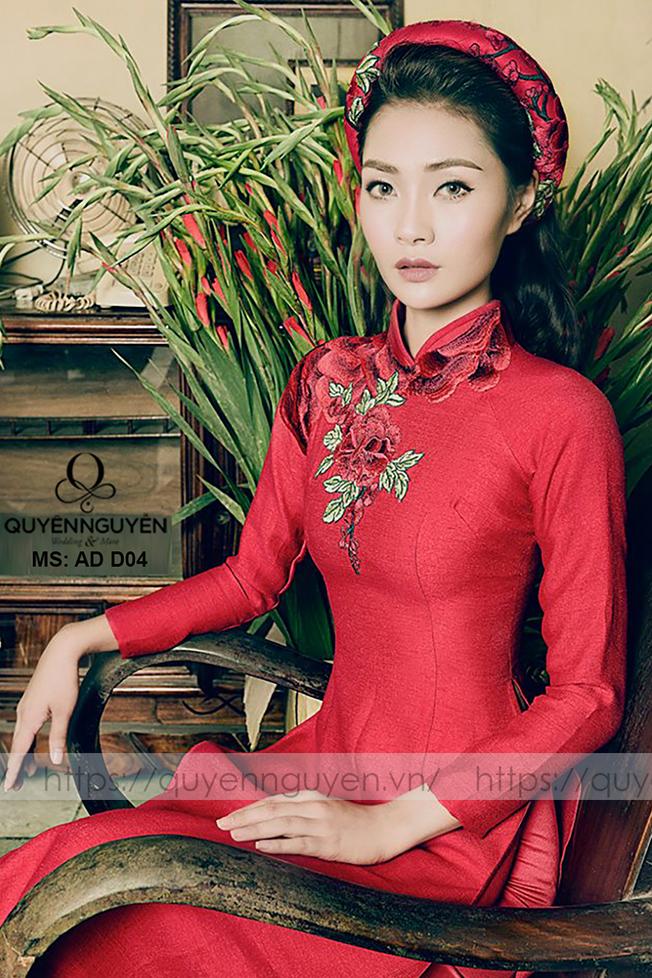 Áo dài đỏ AD D04
