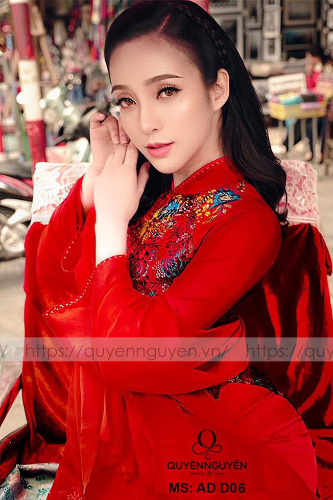 Áo dài đỏ AD D06