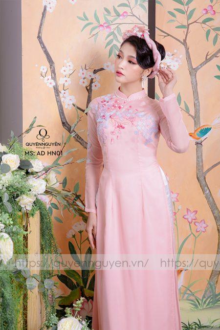 Áo dài hồng nhạt AD HN 01