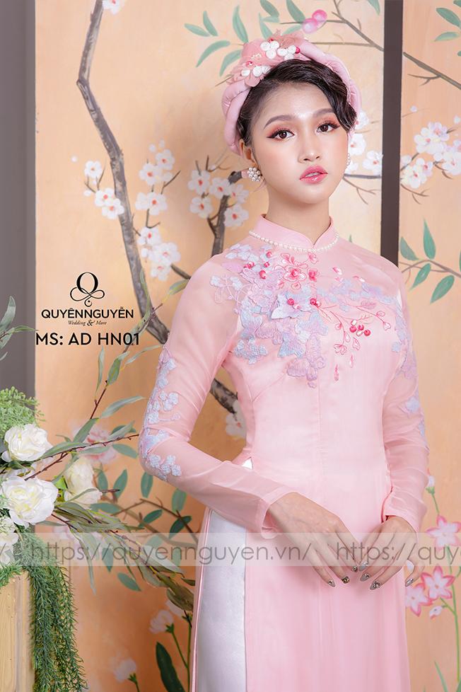 Áo dài hồng AD HN 01