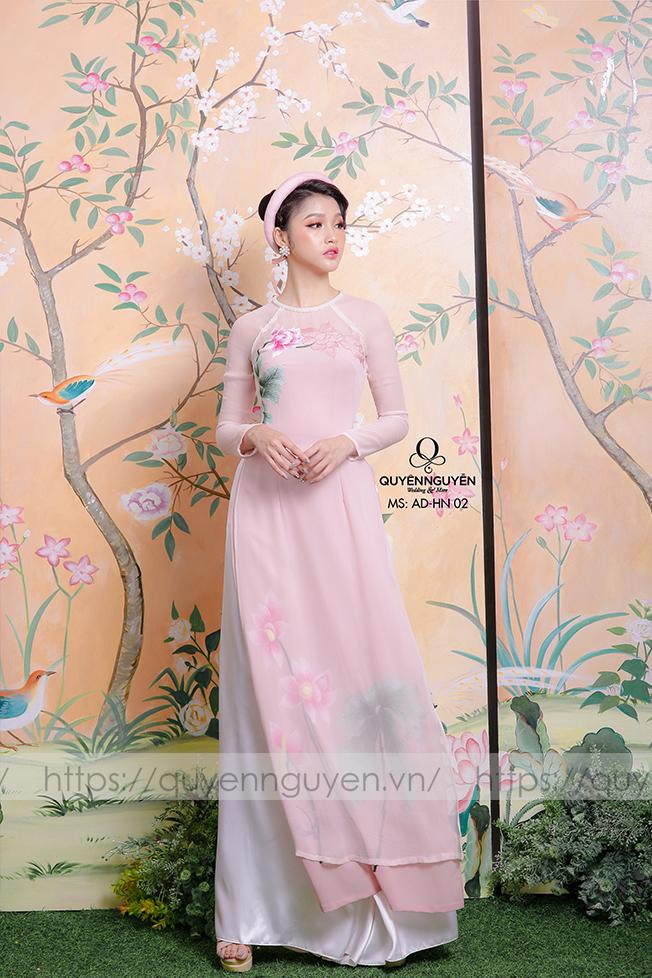 Áo dài hồng nhạt AD HN 02