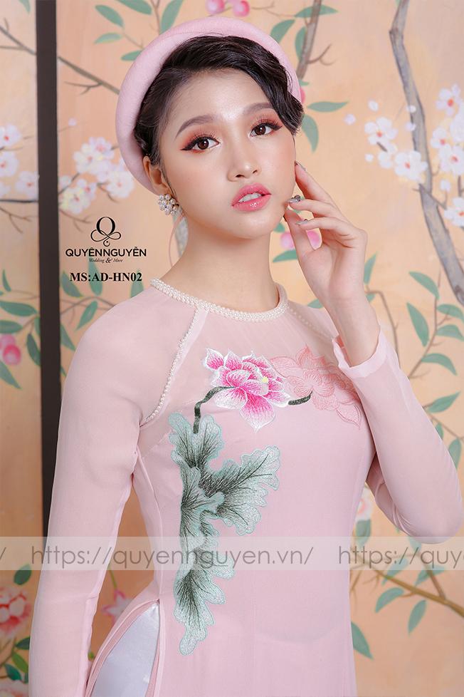Áo dài hồng AD HN 02