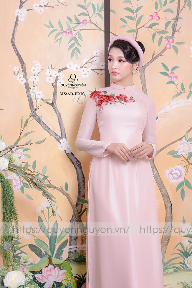 Áo dài hồng AD HN 03