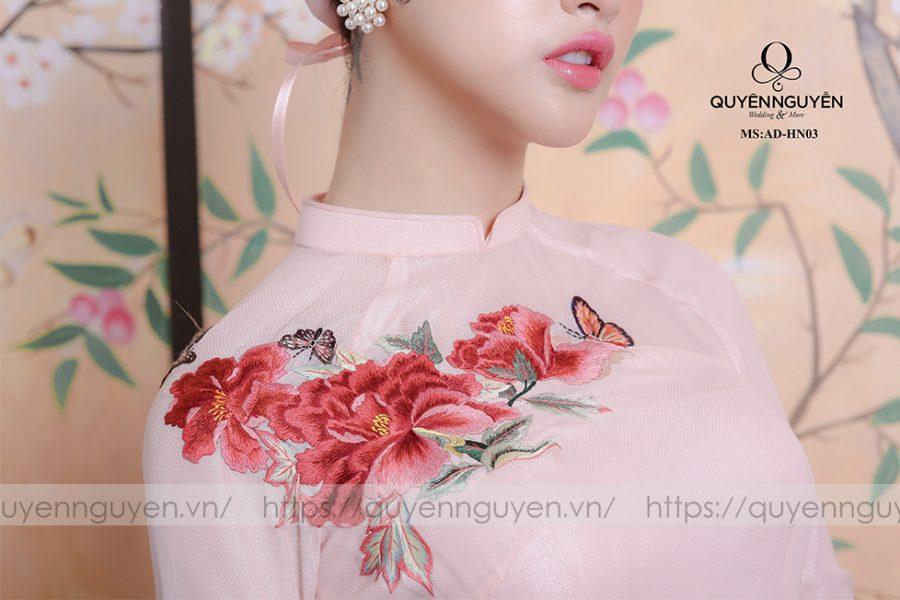 Áo dài hồng nhạt AD HN 03