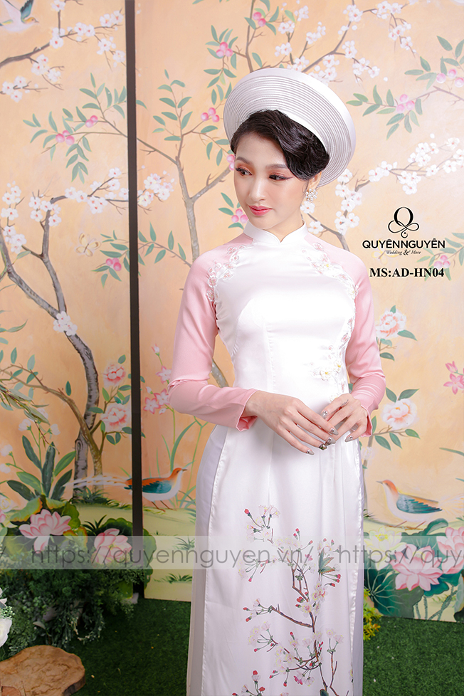 Áo dài hồng AD HN 04