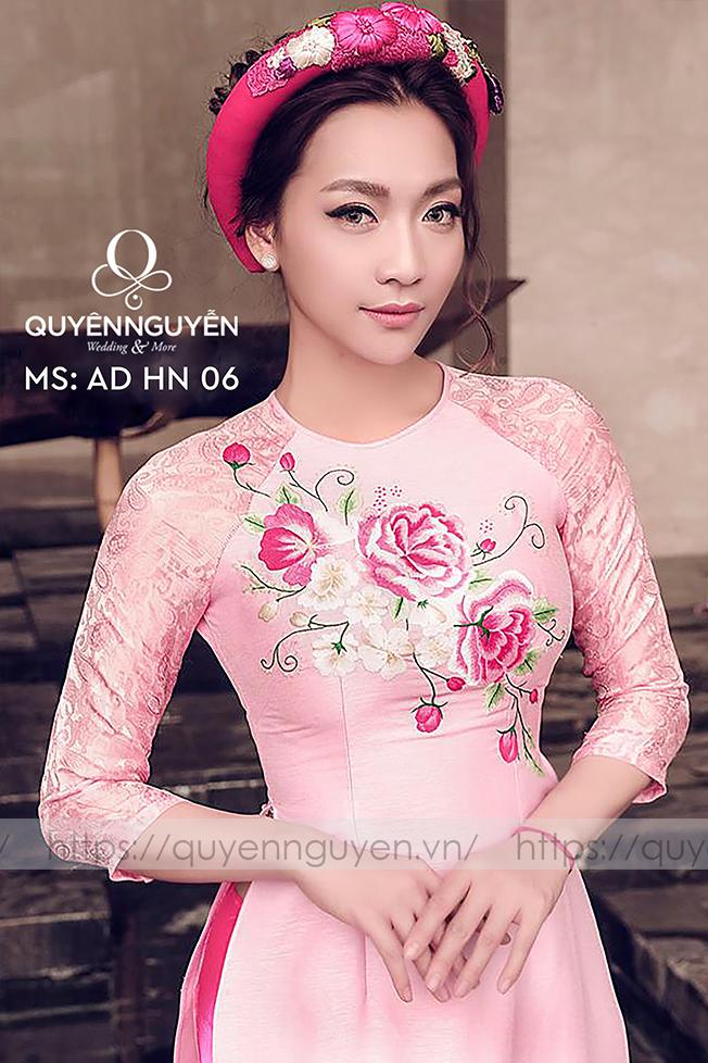 Áo dài hồng AD HN 06