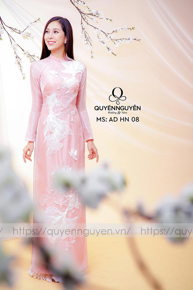 Áo dài hồng AD HN 08