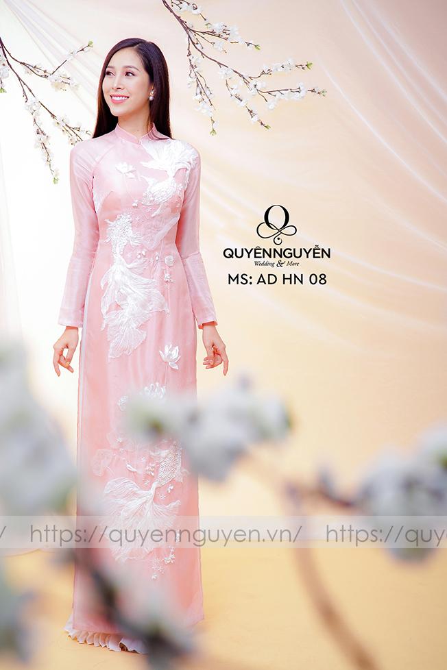Áo dài hồng nhạt AD HN 08
