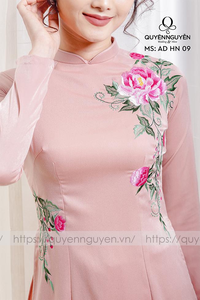 Áo dài hồng nhạt AD HN 09