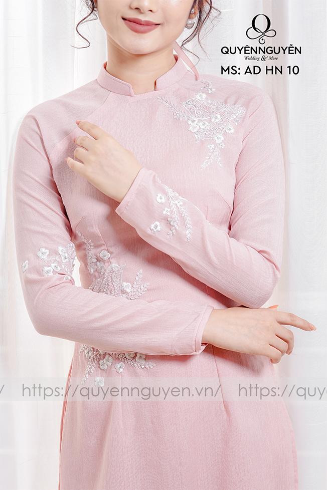 Áo dài hồng AD HN 10