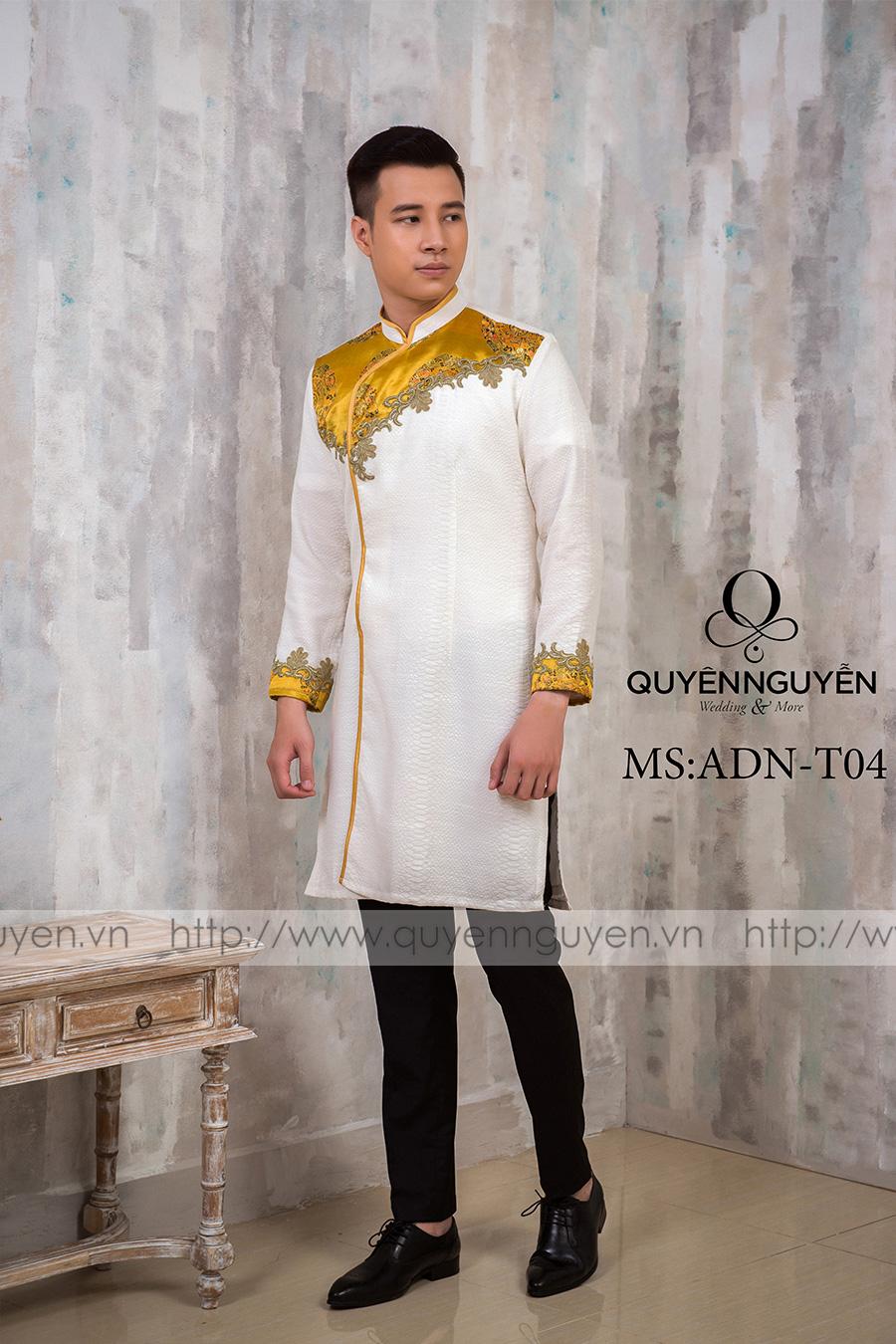 Áo dài nam trắng ADN T04