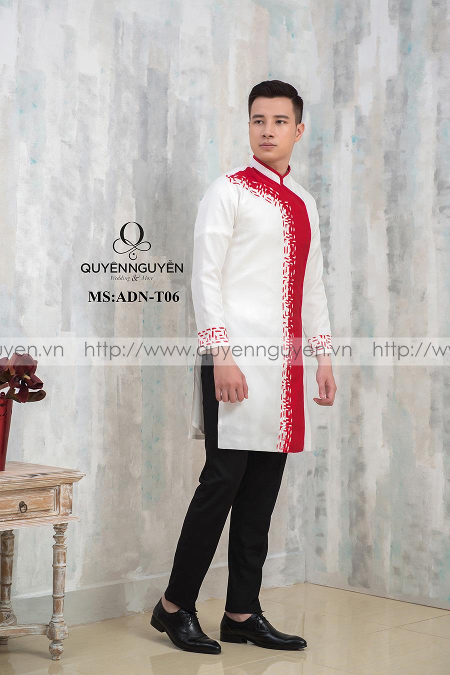 Áo dài nam trắng ADN T06