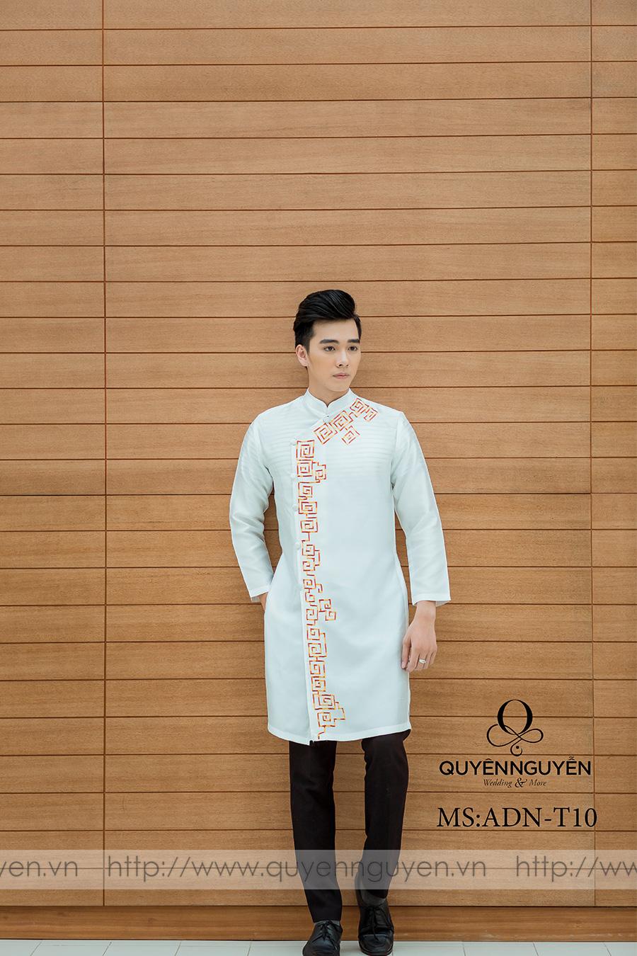 Áo dài nam trắng ADN T10