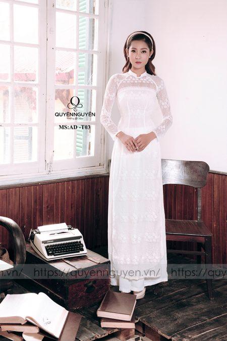 Áo dài trắng AD T03