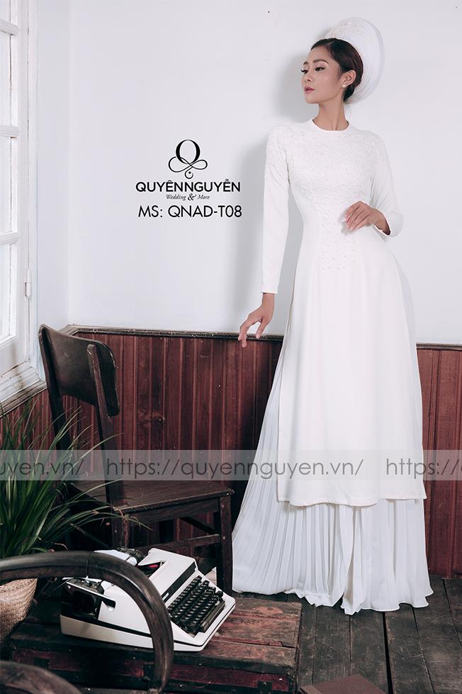 Áo dài trắng AD T08