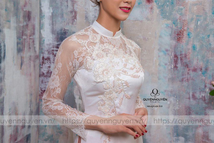 Áo dài trắng AD T15