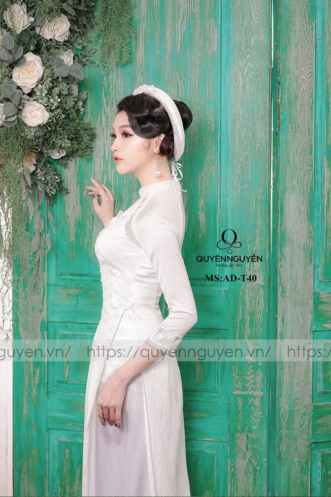 Áo dài trắng AD T40