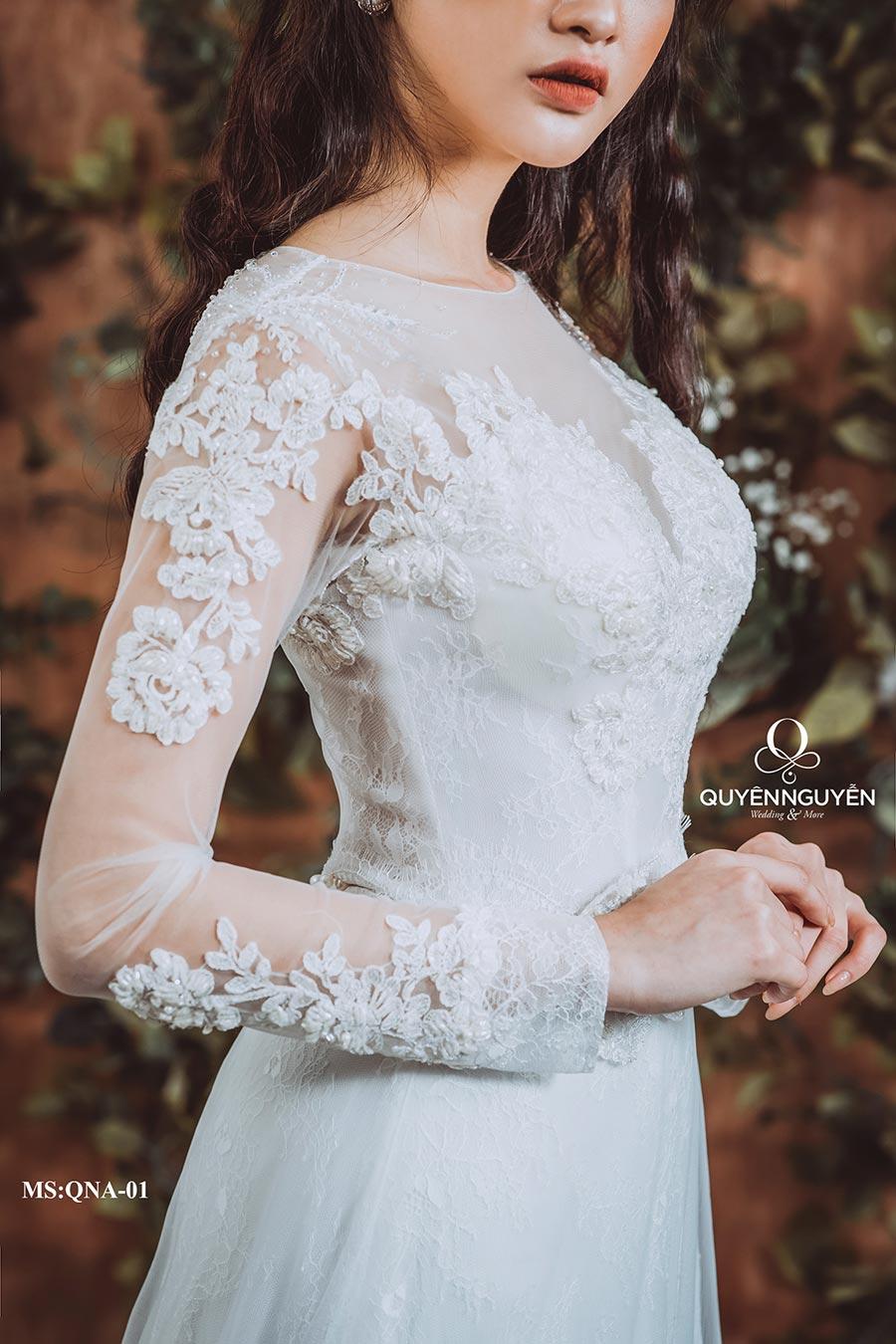 Váy cưới dáng cá QNA 01