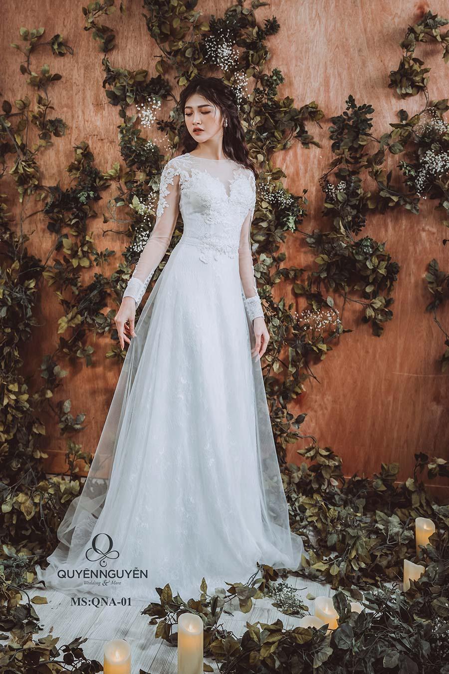 Váy cưới dáng A QNA 01