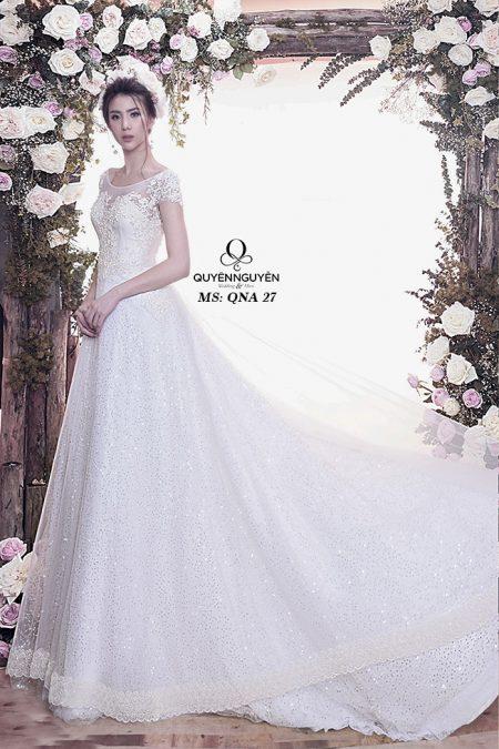 Váy cưới chữ a QNA 27