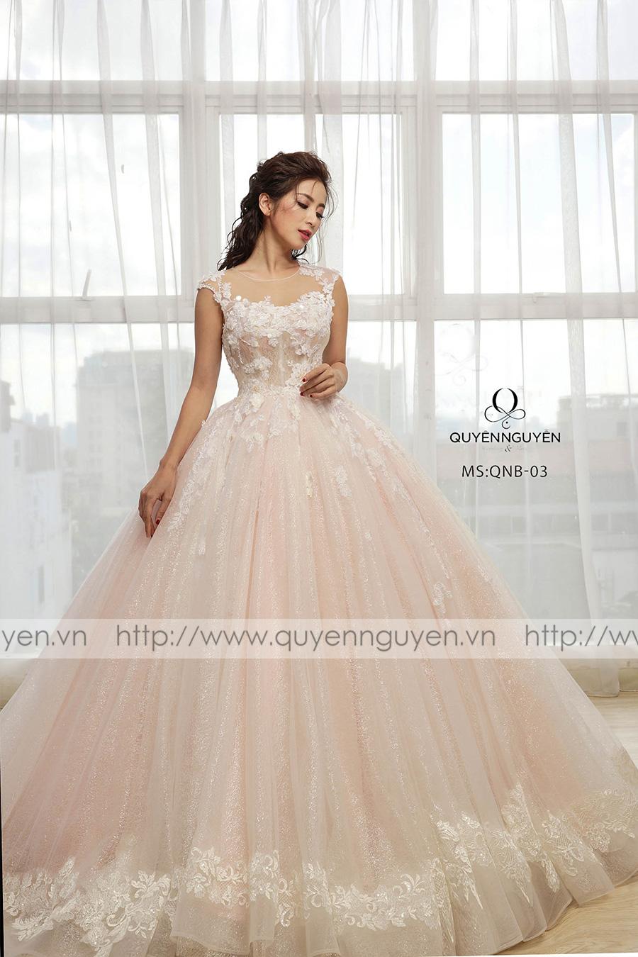 Váy cưới dáng bồng QNB 03