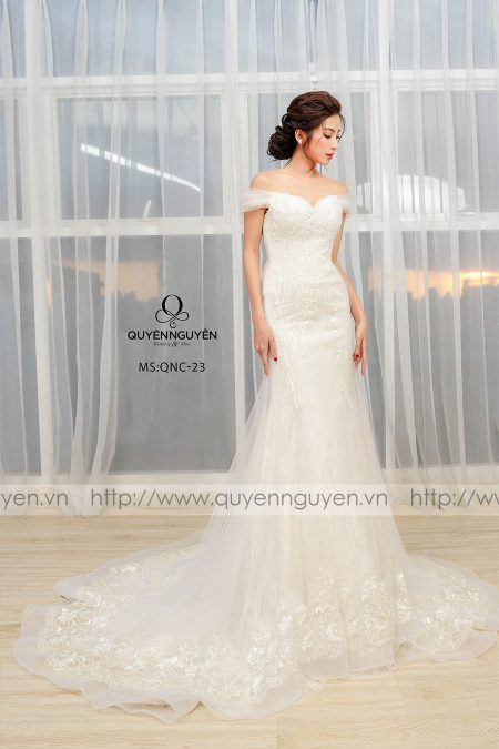 Váy cưới dáng cá QNC23