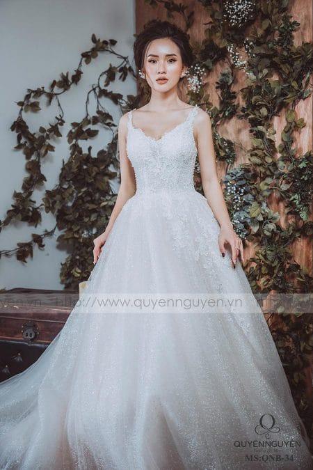 Váy cưới dáng bồng QNB 34