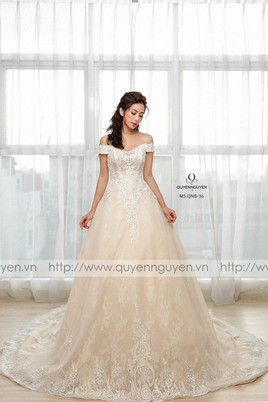 Váy cưới dáng bồng công chúa QNB 36