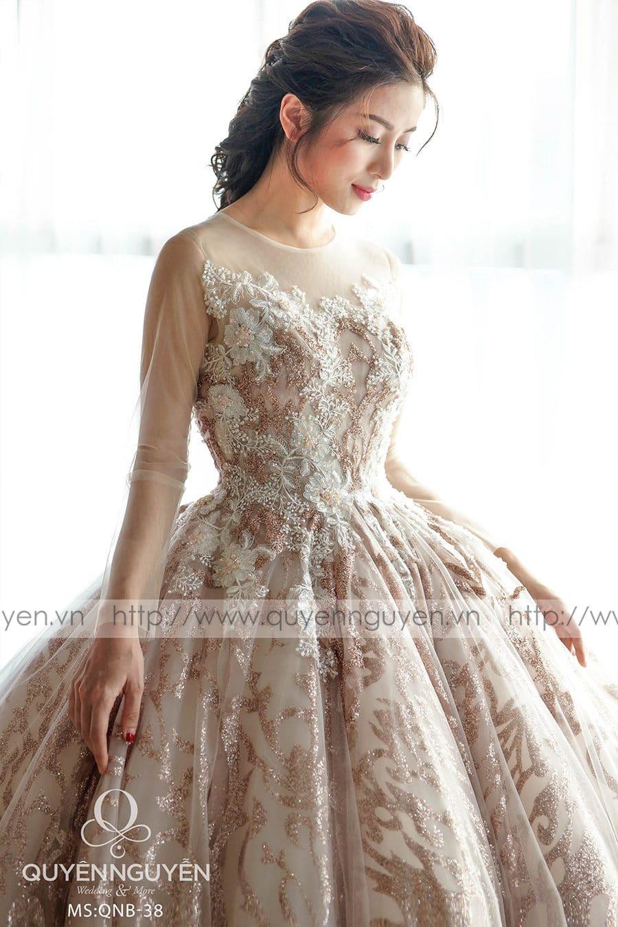 Váy cưới dáng bồng công chúa QNB 38