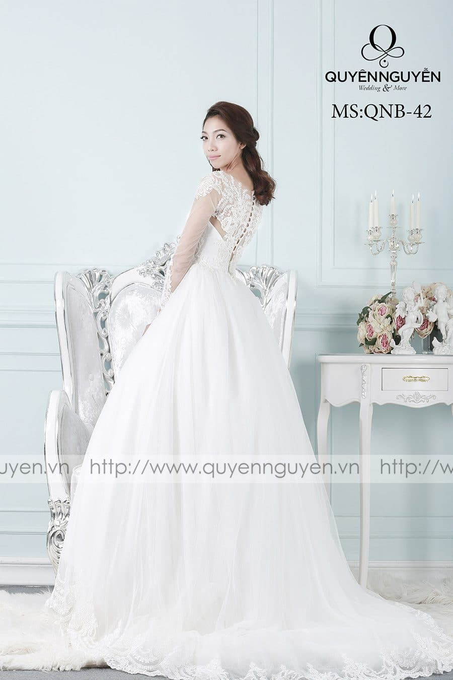 Váy cưới mẫu QNB 42