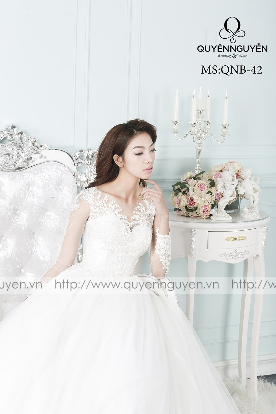 Váy cưới dáng bồng QNB 42