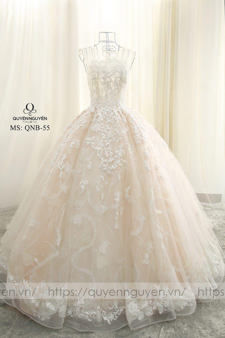 Váy cưới dáng bồng công chúa QNB 55
