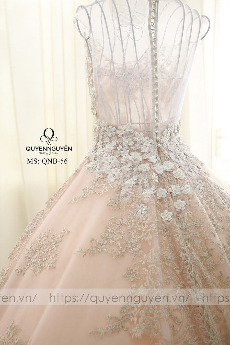 Váy cưới dáng bồng công chúa QNB 56