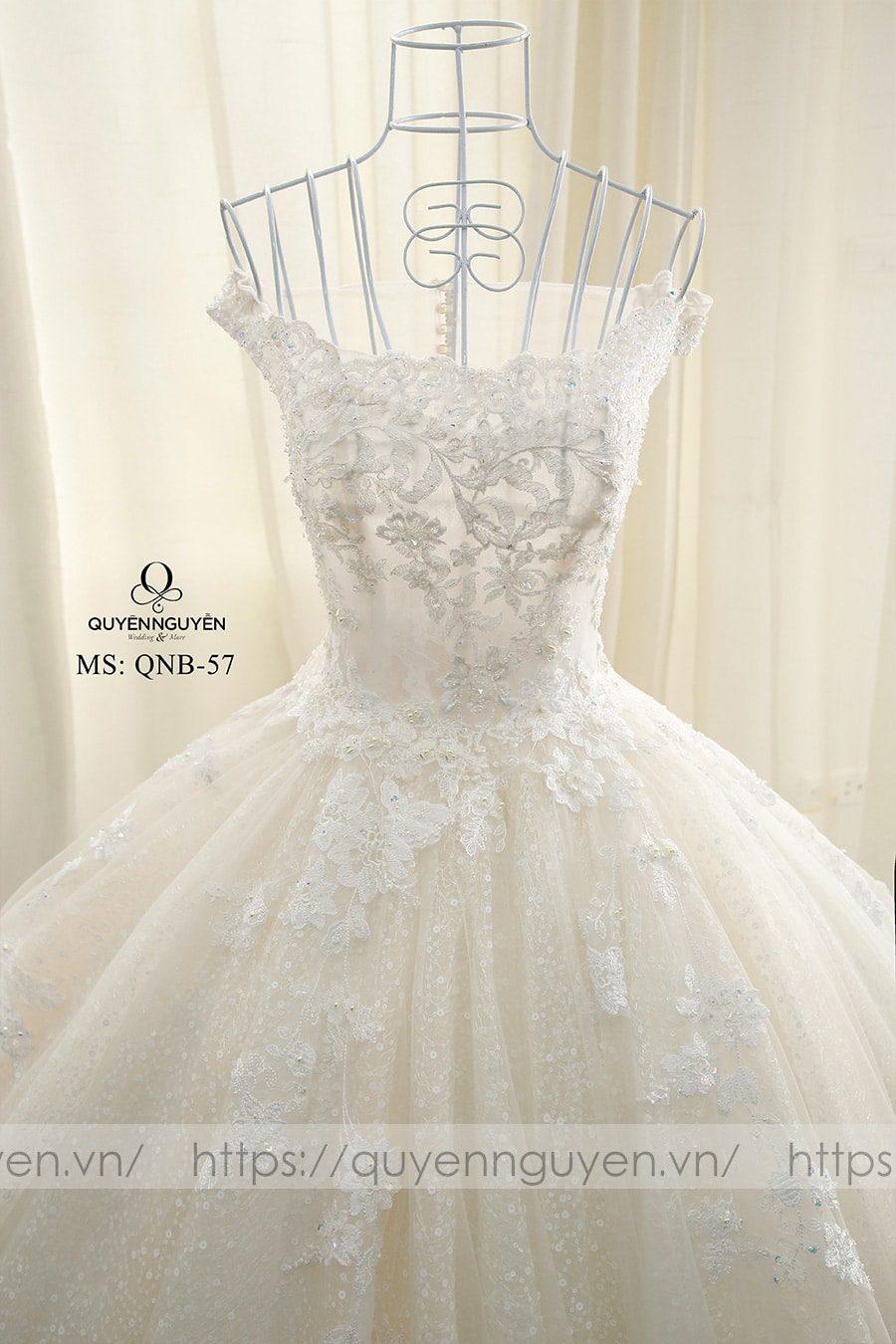 Váy cưới dáng bồng QNB57